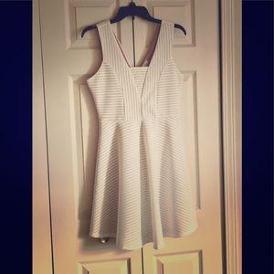 Maurice's White/Nude Dress